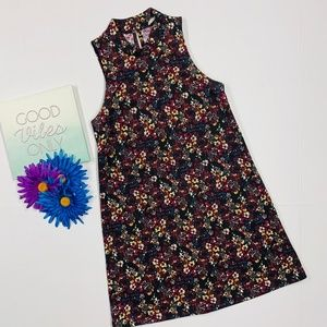 LUSH Sleeveless Black Floral Dress Size XS